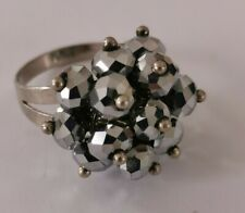 Adjustable crystal party rings x2