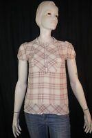 KOOKAI Taille 36 Superbe chemise manches courtes carreaux femme blouse