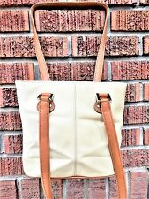 "New Fossil Tan Thick Nylon Mini Tote Shopper Shoulder Handbag Purse:9""x9""x5.5"""