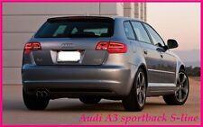 Audi A3 8P 5 Portes Sportback S-ligne Arrière/toit spoiler (2004-2012)