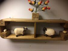 Reclaimed Hard wood Rustic SHELF WALL Vintage antique handmade