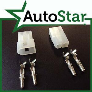 "2 Way Molex Connector Kit .093"" 2 Pin Plug Socket & Terminals"
