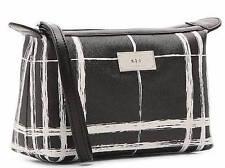 NWT $78 LAUREN RALPH LAUREN Black & White SWANFIELD Cosmetic Pouch Travel Bag
