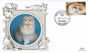(01738) Guyana Benham FDC Cats 1996
