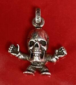 CHROME HEARTS Skull Necklace Pendant Silver 925 Chain Rare