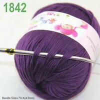 Sale New 1ballx50g Soft Cashmere Silk Wool Baby Children Hand Knitting Yarn 42