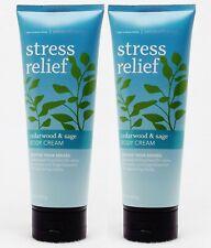 2 Bath Body Works Aromatherapy STRESS RELIEF CEDARWOOD SAGE Cream Lotion 8 oz