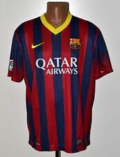 BARCELONA SPAIN 2013/2014 HOME FOOTBALL SHIRT JERSEY NIKE SIZE XL ADULT