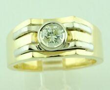 0.45 ct men's 14k 2 tone Gold Mens Natural Diamond Solitaire Ring