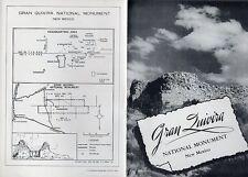 Vintage 1947 New Mexico Travel Brochure - Gran Quivera National Monument