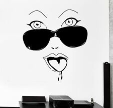 Wall Sticker Hot Sexy Woman Glamour Glasses Vinyl Decal (ig1933)