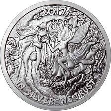 2017 5oz Ariel the Tree Fairy Proof Reddit Silverbug Silver Round .999 777