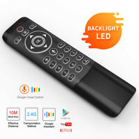 2.4GHz Mini Wireless Keyboard Air Mouse TV Box Voice Remote Control backlight