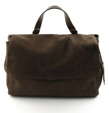 BORSA DONNA POSTMAN TIMBERLAND M5509 MARRONE A66 VERA PELLE MADE IN ITALY
