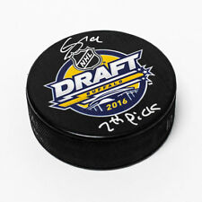 Clayton Keller 2016 NHL Draft Day Autographed Hockey Puck with 7th Pick Note
