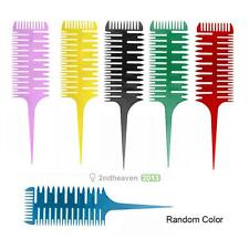 Salon Professional Fish Bone Shape Comb Hair Dyeing Sectioning Highlighting Tool