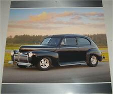 1942 Ford 2 dr sedan car print (black)