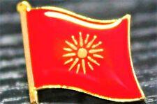 MACEDONIA Macedonian Metal Flag Lapel Pin Badge *NEW*