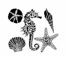 """12"""" x 12"""" Crafter's Workshop Painting Stencil Template ~ SEA CREATURES"""