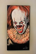 12 x 24 inch PENNYWISE - They All Float Down Here -- Painting from the IT Reboot