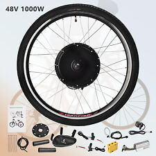 07e83c7168e 48V 1000W 26'' Rear Wheel E-bike Electric Bicycle Kit Conversion Cycling  Motor