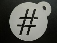 60mm hashtag design cake, cookie, craft & face painting stencil
