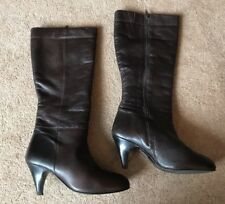 La Chateau Brown Real Leather Knee High Boots Uk Size 6 EUR 39
