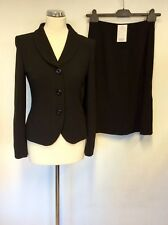 BNWT HOBBS BLACK STEPWEAVE WOOL DELORES JACKET & SUIT SIZE 8/10 COST £288