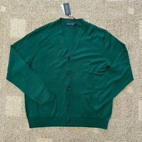 Mens Polo Golf Ralph Lauren Ivy Golf Club Wool Cardigan Sweater Green Size Large