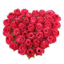 50PCS Artificial Fake Roses Silk Flower Wedding Home Bouquet Decor Art US Stock