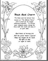 Black Opal Charm Spell for Wicca Book of Shadows Pagan Occult Ritual