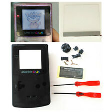 Nintendo Game Boy Color GBC Frontlit Frontlight Front Light Kit & Black Shell