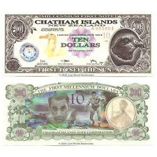 More details for chatham islands 10 dollars 2001 polymer banknotes unc