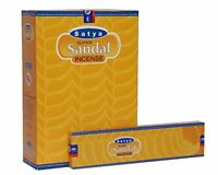 Satya Super Sandal Incense Sticks 240 Grams Box 12 Packs x 20 Grams
