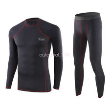 ESDY Mens Thermal Compression Shirt Long Base Layer Warm Underwear Top Pants Set