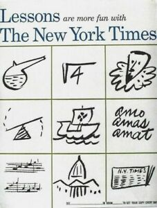 Original vintage poster LESSONS WITH NEW YORK TIMES c.1960