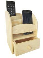 Fernbedienungshalter Aufbewahrungsbox 360° Drehbar  Schreibtisch Organizer Holz
