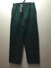 Older Boys Sz 16 Bottle Green Double Knee School Uniform Fleece Track Pants