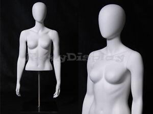 Table Top Egghead Female Mannequin Torso Display #MD-EGTFSA