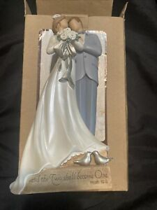 Wedding Couple Figurine Topper Kim Lawrence Legacy of Love, Two Shall Become 1
