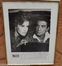 PARIS Match rivista d'epoca poster foto Film DELITE DE FUITE 1959 Vintage