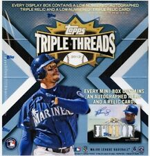 2012 Topps Triple Threads Baseball Sealed Box Straight Out of Hobby Box Case!