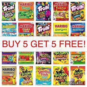 Haribo Mondelez Trolli Hi-Chew Gummy Chewy Sour Candy 4 oz 5 oz Buy 5 Get 5 Free