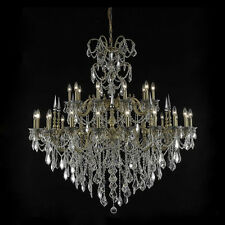 """Palace Brookville  30 Light 54"""" French Gold Crystal Chandelier"""