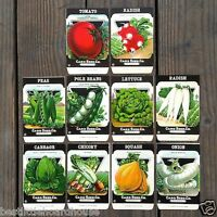 Vintage Original 10 VEGETABLE SEED PACKS NY Card Seed Company (SET G) 1920's NOS