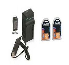 2 Batteries + Charger for Olympus E-620 PEN Digital E-P1 E-P2 E-PL2 E-P3 E-PL3