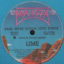 LIME - Babe, We're Gonna Love Tonite - 1982 Matra - MA-007