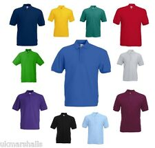POLO SHIRT FRUIT OF THE LOOM SPORT GOLF BOWLS SHIRT 63402