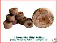 18mm Dia Jiffy Peat Pellets Plant Pots *MINI SIZE* x50