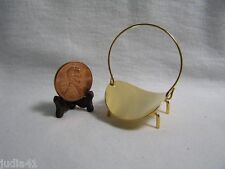 Miniature Dollhouse Brass Log Holder
